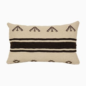 Vintage Minimalist Style Hemp Lumbar Pillow with Original Details from Vintage Pillow Store Contemporary