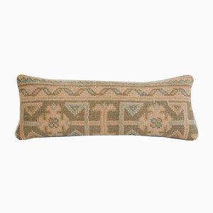 Housse de Coussin Lombaire Vintage en Laine Délavée Ethnique de Vintage Pillow Store Contemporary