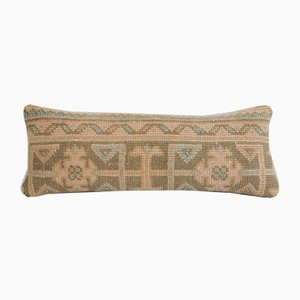Vintage Anatolian Ethnic Handmade Faded Soft Wool Lumbar Bedding Rug Pillow Cover from Vintage Pillow Store Contemporary
