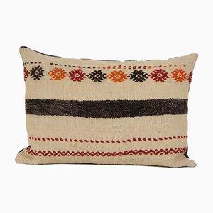 Kissenbezug, handgewebter aztekischer Lumbar Kelim Kissenbezug von Vintage Pillow Store Contemporary
