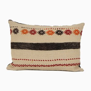 Pillow Cover, Bohemian Handwoven Lumbar Kilim Aztec Cushion Cover from Vintage Pillow Store Contemporary