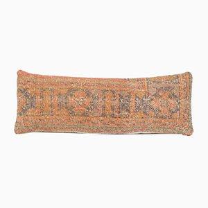 Vintage türkische handgefertigte gestreifte Vintage Bank Kissenbezug aus Wolle