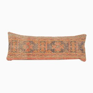 Übergroßer türkischer Oushak Lumbar Teppich Kissenbezug