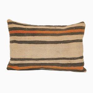 Taies d'Oreiller Kilim Lombaire à Rayures avec Décor Anatolien de Vintage Pillow Store Contemporary, Milieu du 20ème Siècle