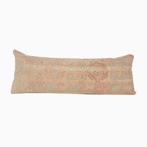 Turkish Bohemian Faded Pastel Wool Lumbar Rug Bedding Cushion Cover