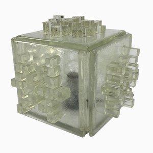 Italienische Apis Tischlampe aus Kristallglas von Poliarte, 1960er