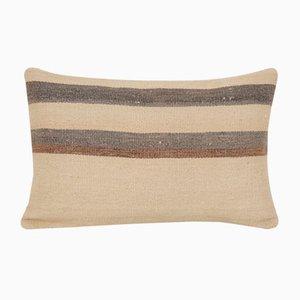 Federa Kilim vintage in lana blu fatta a mano di Vintage Pillow Store Contemporary