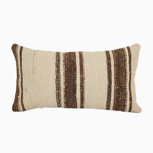 Vintage Striped Lumbar Kilim Throw Rug Pillow Cover from Vintage Pillow Store Contemporary