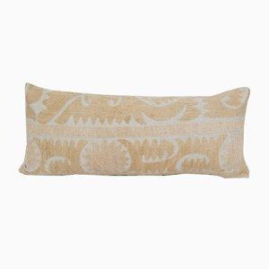 Faded Yellow Uzbek Suzani Cushion Cover
