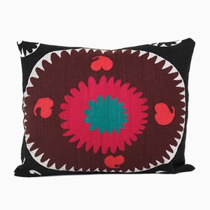 Oversize Handmade Faded Red Suzani Cushion Cover