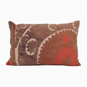 Uzbek Colorful Suzani Lumbar Embroidery Throw Cushion Cover
