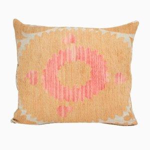 Oversize Handmade Faded Yellow Suzani Cushion Cover