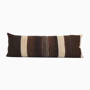Turkish Ethnic Goat Hair Lumbar Kilim Cushion Cover