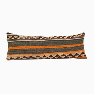 Handgewebter dekorativer Kelim Kissenbezug aus roter Wolle