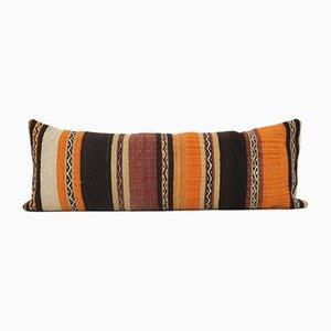 Extra Long Striped Hippie Bedding Kilim Cushion Cover with Farmhouse Decor