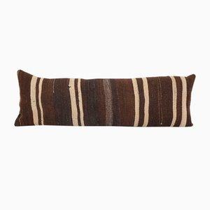 Queen Boho Goat Hair Geometric Tribal Lumbar Kilim Bedding Cushion Cover