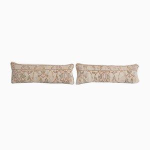Turkish Oushak Rug Cushion Covers, Set of 2