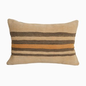 Oversize Vintage Turkish Natural Hemp Sisal Kilim Pillow Cover from Vintage Pillow Store Contemporary