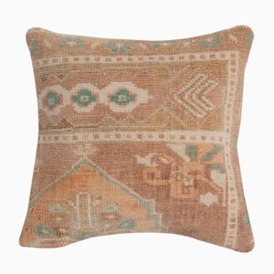 Turkish Ethnic Faded Brown Yastik Rug Pillow from Vintage Pillow Store Contemporary