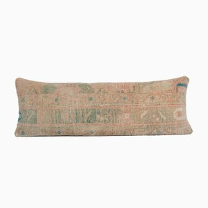 Vintage Anatolian Handmade Wool Lumbar Rug Bedding Cushion Cover