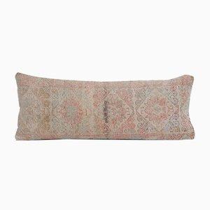 Turkish Ethnic Handcrafted Oushak Lumbar Rug Cushion Cover