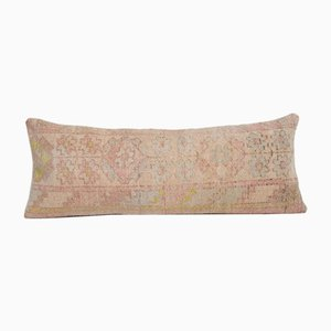 Vintage Turkish Handmade Striped Organic Wool Bench Cushion Cover