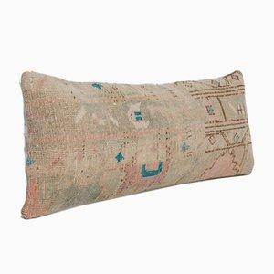 Oversize Vintage Turkish Ethnic Wool Oushak Rug Bedding Cushion Cover
