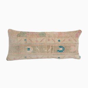 Long Bohemian Woven Wool Lumbar Rug Bedding Cushion Cover with Mid-Century Design