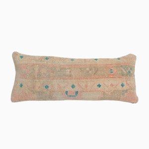 Vintage Anatolian Ethnic Handmade Wool Lumbar Rug Cushion Cover