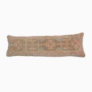 Extra Long Turkish Ethnic Faded Copper Lumbar Oushak Rug Bedding Cushion Cover