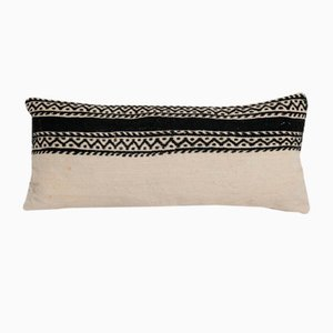 Small Turkish Boho Oblong Handmade Lumbar Kilim Pillow Cover from Vintage Pillow Store Contemporary