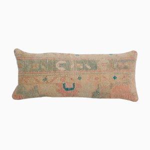 Extra Long Turkish Ethnic Faded Blue Lumbar Rug Bedding Cushion Cover