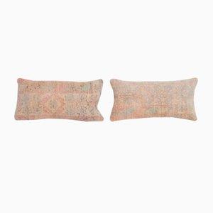 Turkish Ethnic Faded Rug Cushion Covers, Set of 2