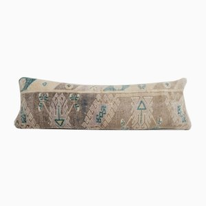 Long Bohemian Hippie Woven Wool Bedding Kilim Cushion Cover with Mid-Century Design
