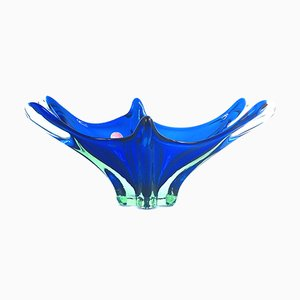 Murano Sommerso Glass Bowl or Centerpiece, Italy, 1960s