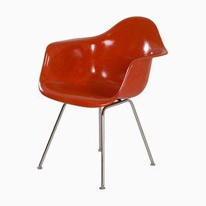 Orangefarbener Dax Sessel von Charles & Ray Eames für Herman Miller, 1970er