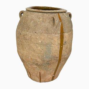 Großes antikes spanisches Olivenöl aus Terrakotta