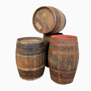 French Wine Barrels, Set of 4