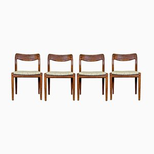 Teak Chairs by Johannes Andersen for Uldum, 1960s, Set of 4