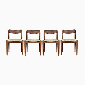 Teak Stühle von Johannes Andersen für Uldum, 1960er, 4er Set