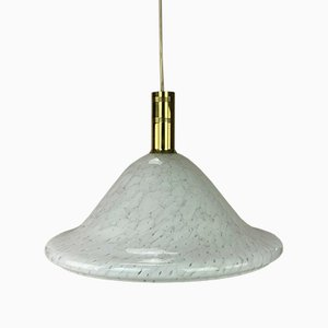 Space Lamp Glas Deckenlampe von Peill & Putzler, 1960er