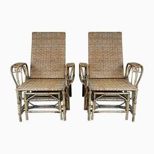 Vintage Bauhaus Rattan Stühle von Erich Dieckmann, 1920er, 2er Set