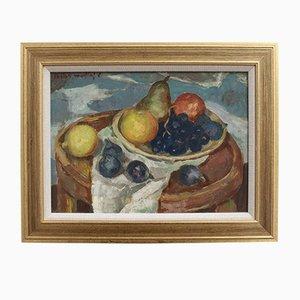 Nature Morte avec Figues et Raisins par Lucien Martial, 1960s