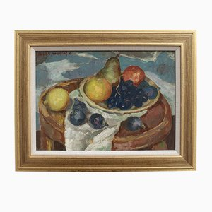 Still Life with Figs and Grapes by Lucien Martial, 1960s