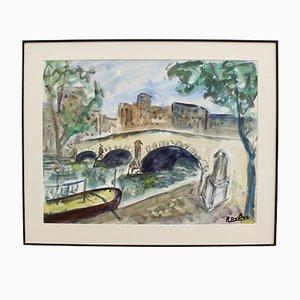 Quai du Pont à Paris par Roland Dubuc, 1970s