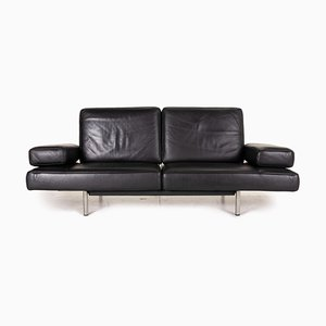 Ds 460 Black Leather 2-Seater Sofa from de Sede