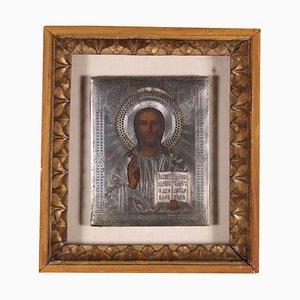 Cristo Pantocratore, Öl auf Leinwand