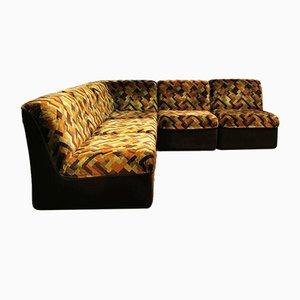 Vintage Modular Velvet Geometric Sofa