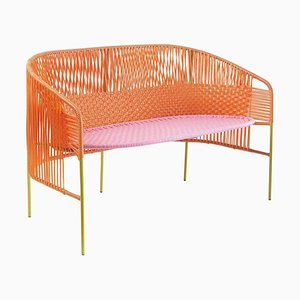 Orange Caribe 2-Sitzer Bank von Sebastian Herkner