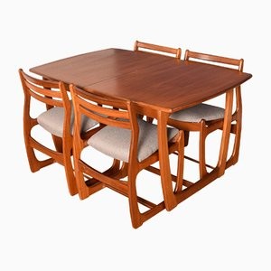 Teak Portwood Extending Dining Table & 4 Chairs, 1960s